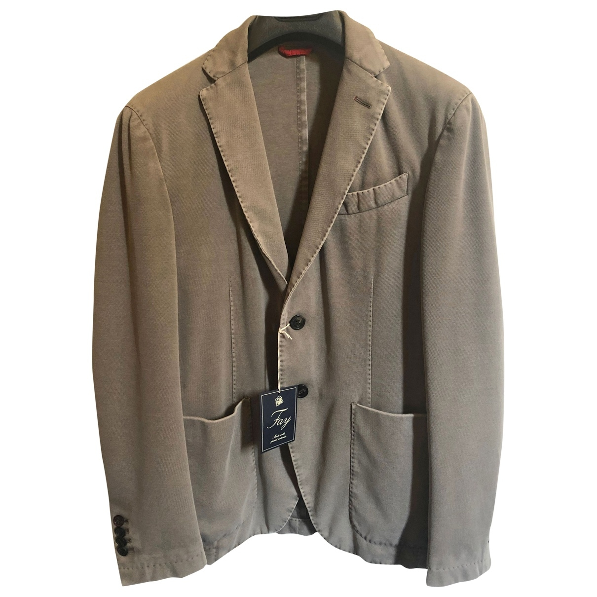 Fay \N Grey Cotton jacket  for Men 48 IT
