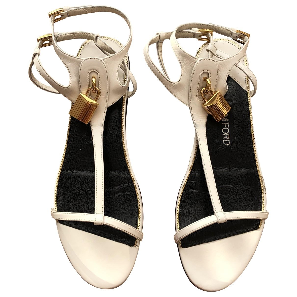 Tom Ford \N White Leather Sandals for Women 38 EU