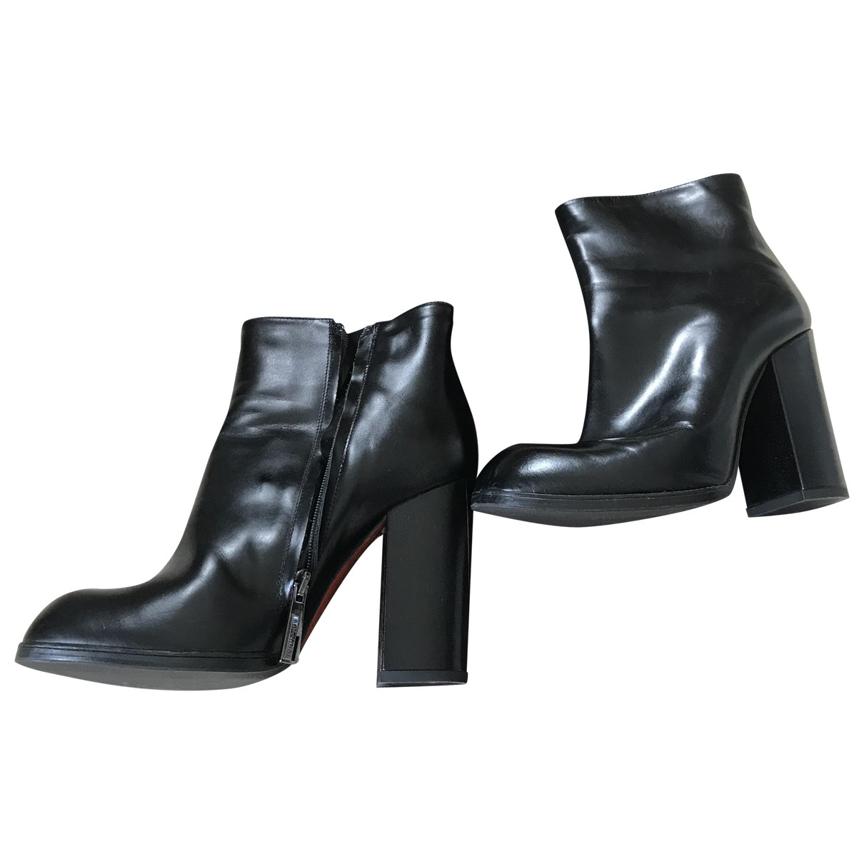 Baldinini \N Black Leather Boots for Women 37.5 EU