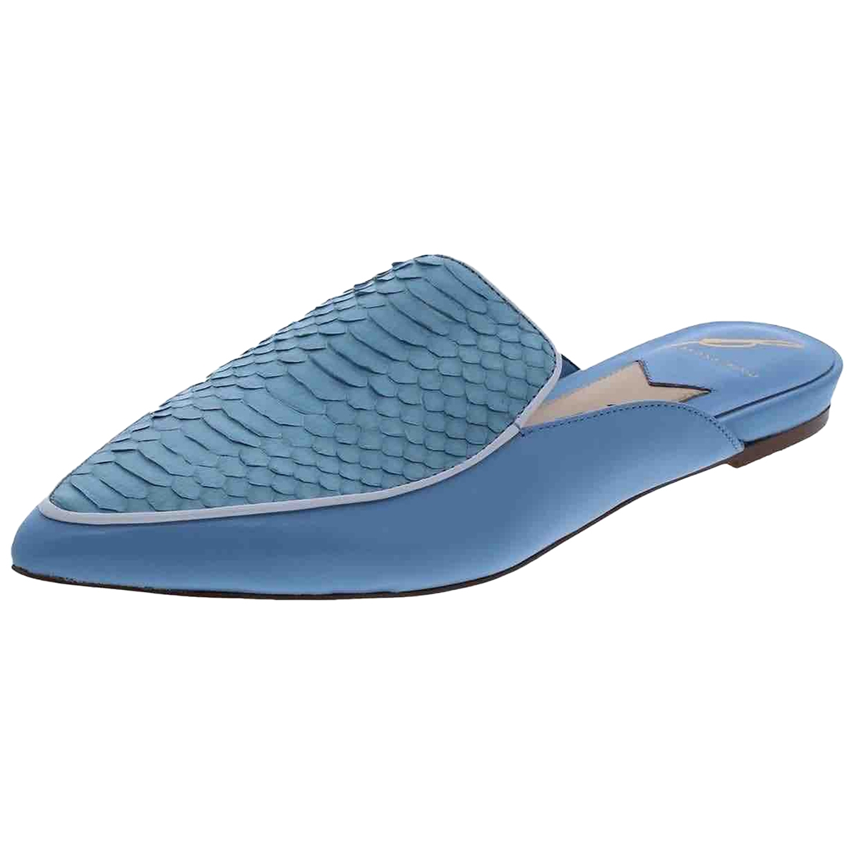 B Brian Atwood \N Blue Leather Mules & Clogs for Women 36.5 EU