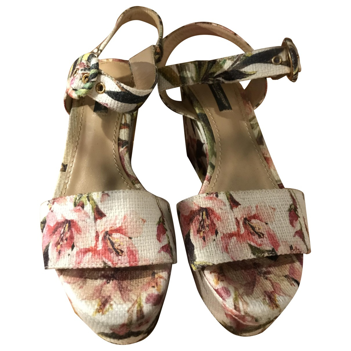 Dolce & Gabbana \N White Cloth Sandals for Women 37 IT