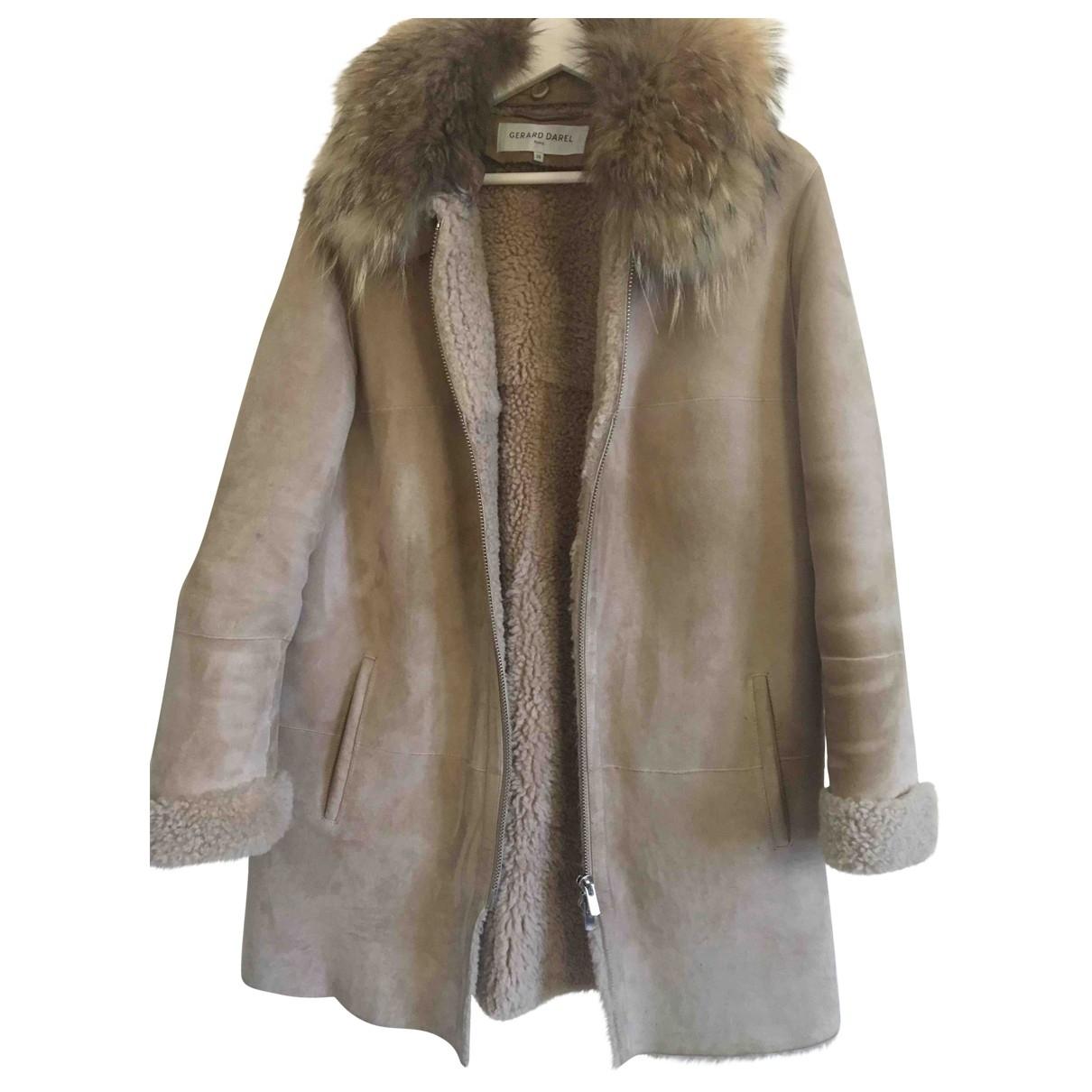 Gerard Darel \N Beige Shearling coat for Women 38 FR