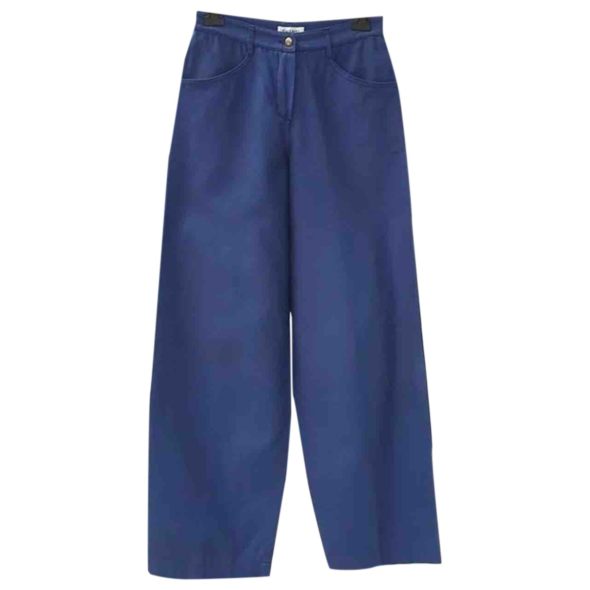 Chanel \N Blue Cotton Jeans for Women 40 FR