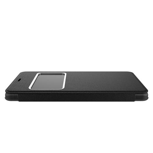 Protective Leather Case For UHANS S1 Smartphone Flip Cover With Window Phone Shell - Black