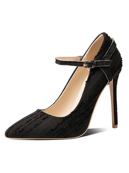 Milanoo Women's Convertible High Heels Pointed Toe Stiletto Heel Plus Size Pumps