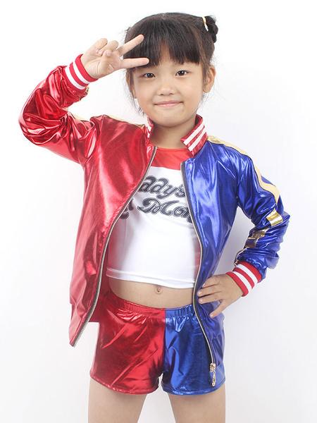 Milanoo Suicide Squad Harley Quinn Kid Cosplay Costume
