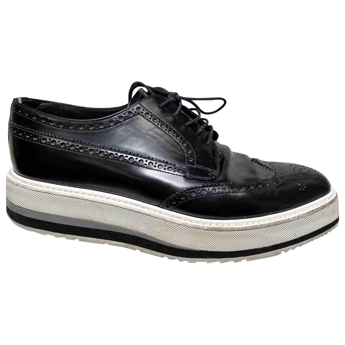 Prada \N Black Leather Lace ups for Men 8 UK