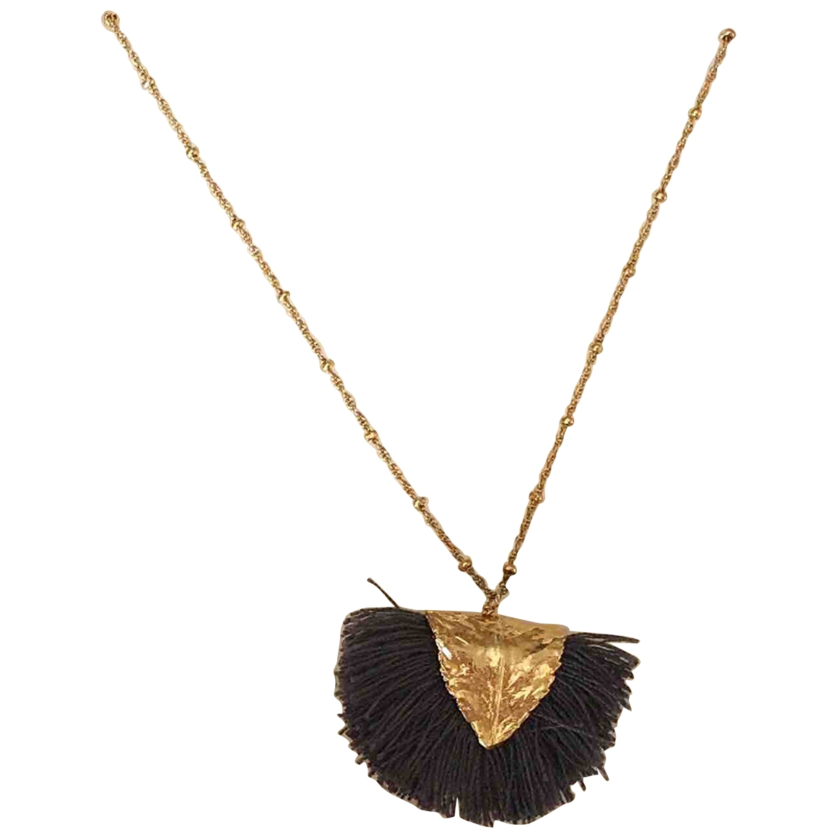 Non Signé / Unsigned \N Black Metal Long necklace for Women \N
