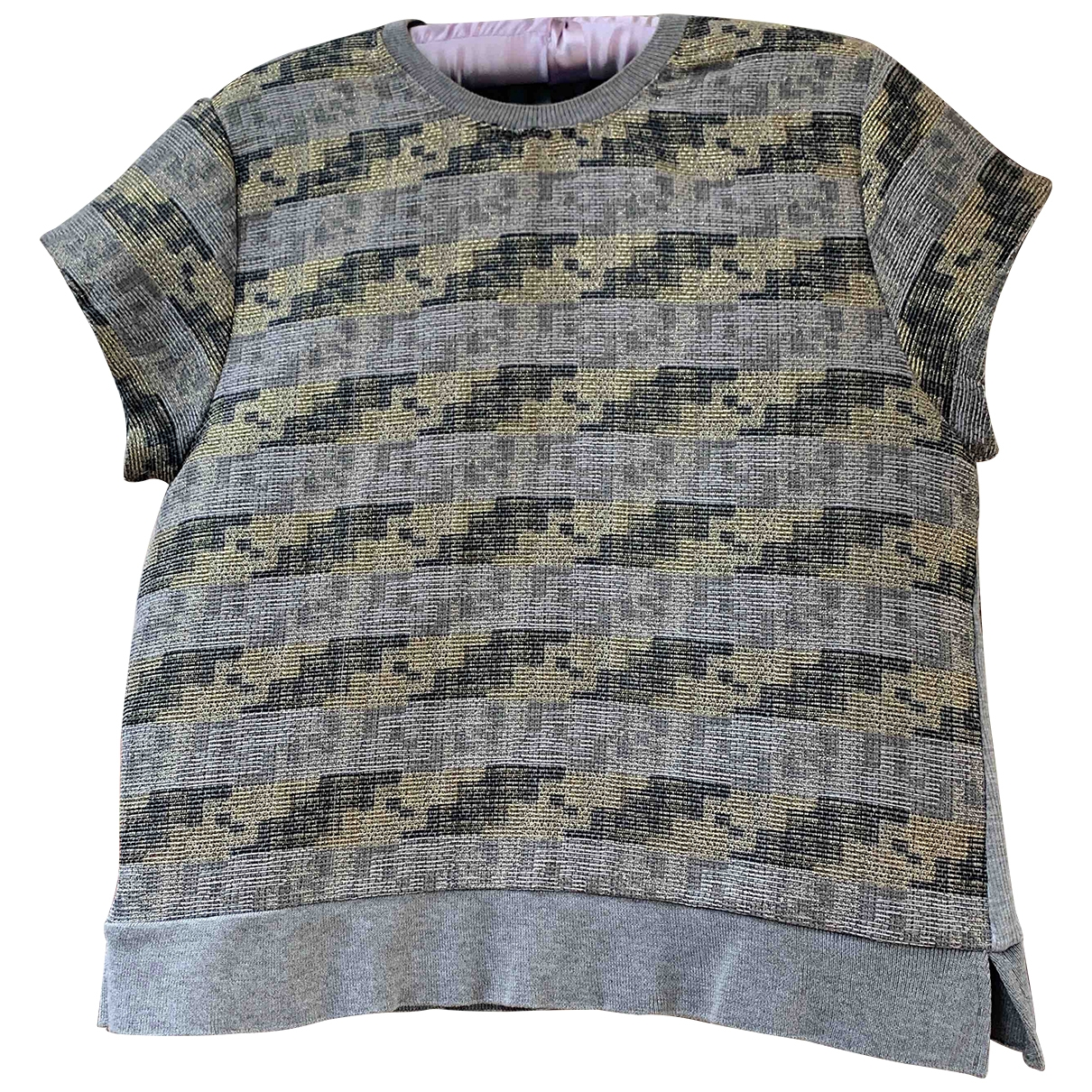 Zara \N Grey Tweed  top for Women M International