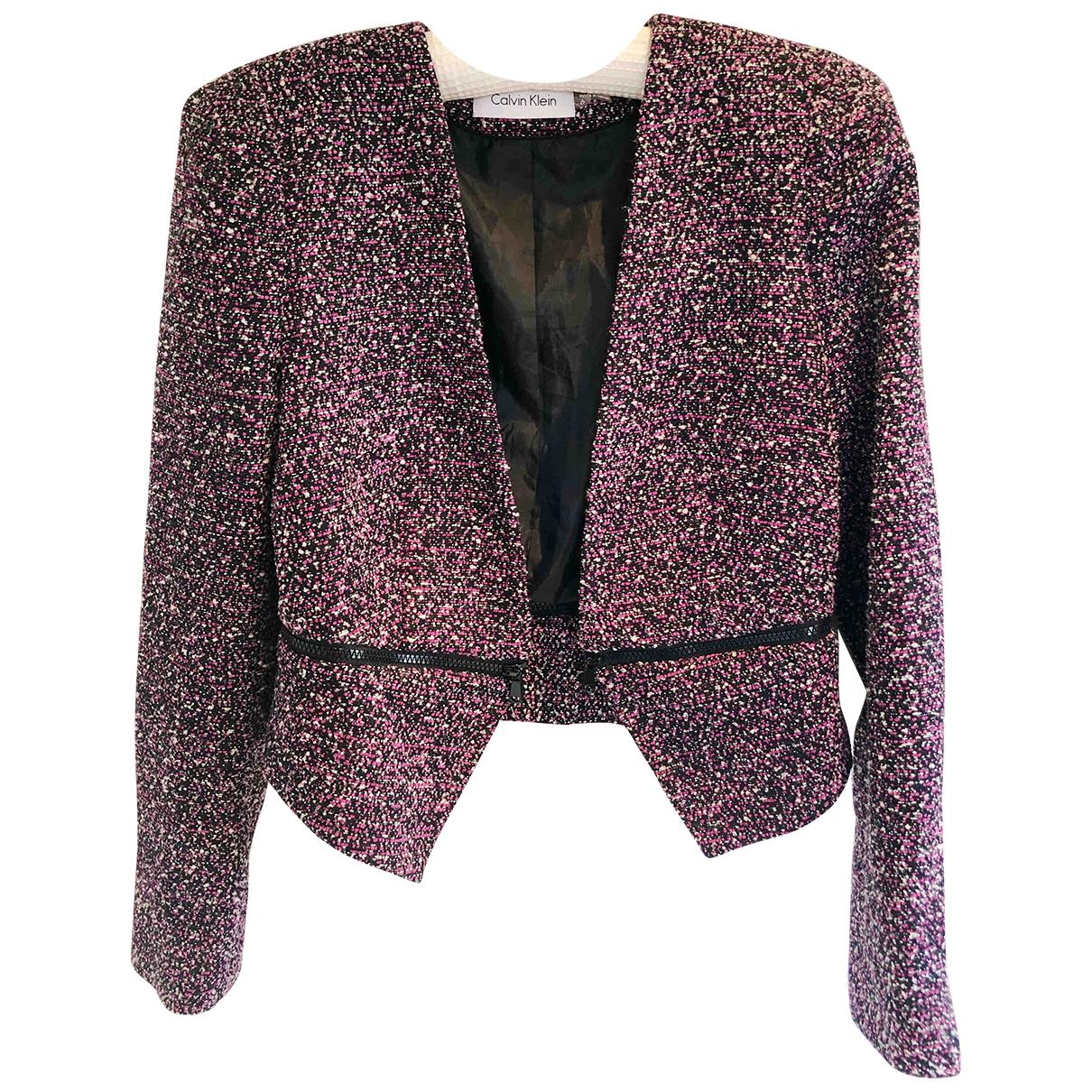 Calvin Klein \N Pink Tweed jacket for Women 6 US