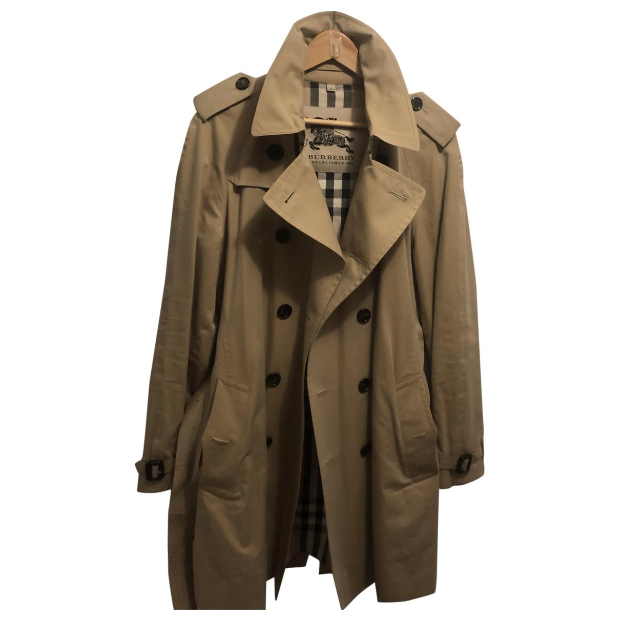 Burberry \N Beige Cloth coat  for Men 50 FR