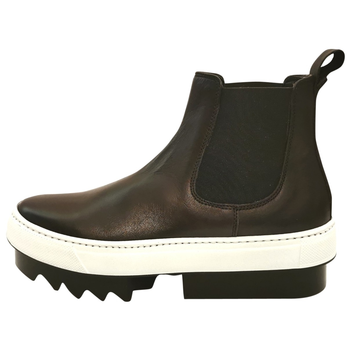 Dsquared2 \N Black Leather Ankle boots for Women 37 EU