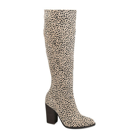 Journee Collection Womens Kyllie Stacked Heel Dress Boots, 5 1/2 Medium, Multiple Colors