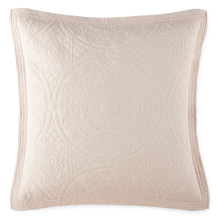 Home Expressions Emma Euro Sham, One Size , Pink