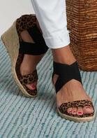 Summer Leopard Cross Zipper Sandals