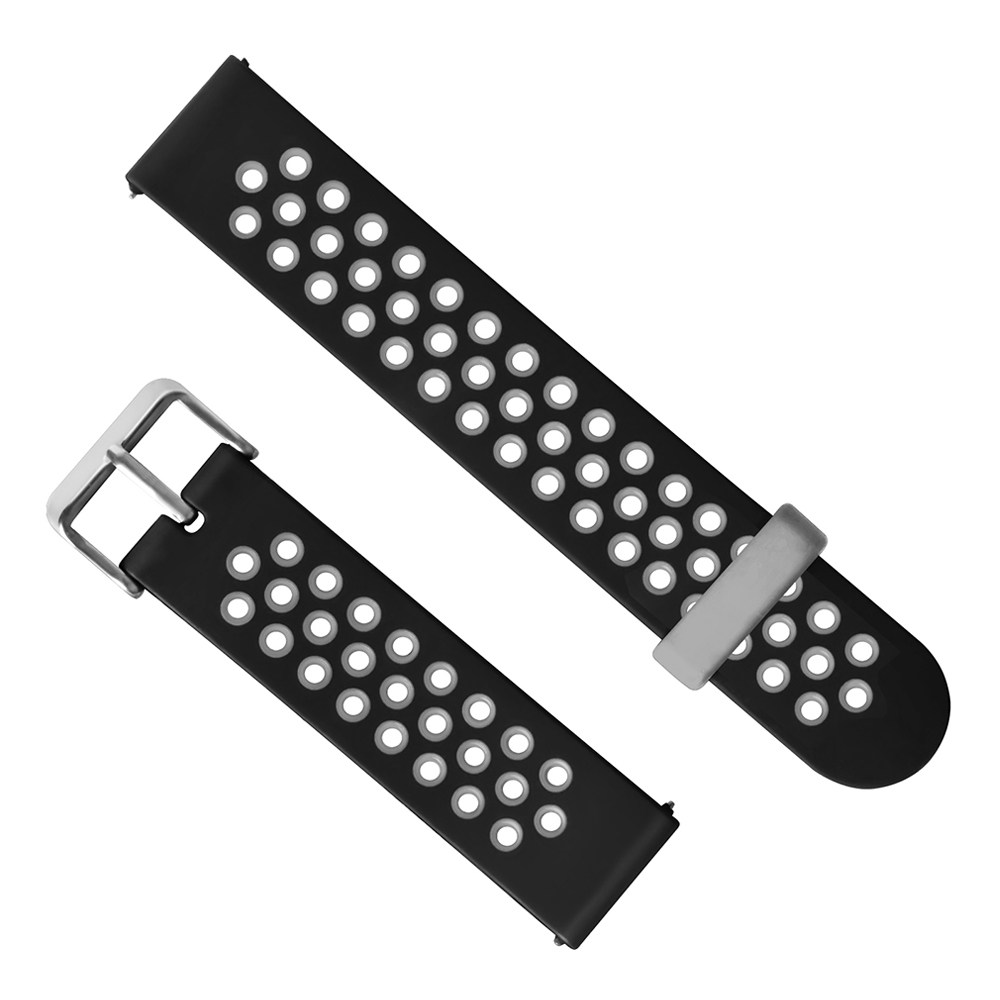 Universal 22mm Replacement Silicon Watch Bracelet Strap Band For Huami Amazfit Stratos 2/2S Pace - Gray