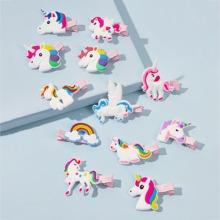 12pcs Girls Unicorn Decor Hair Clip