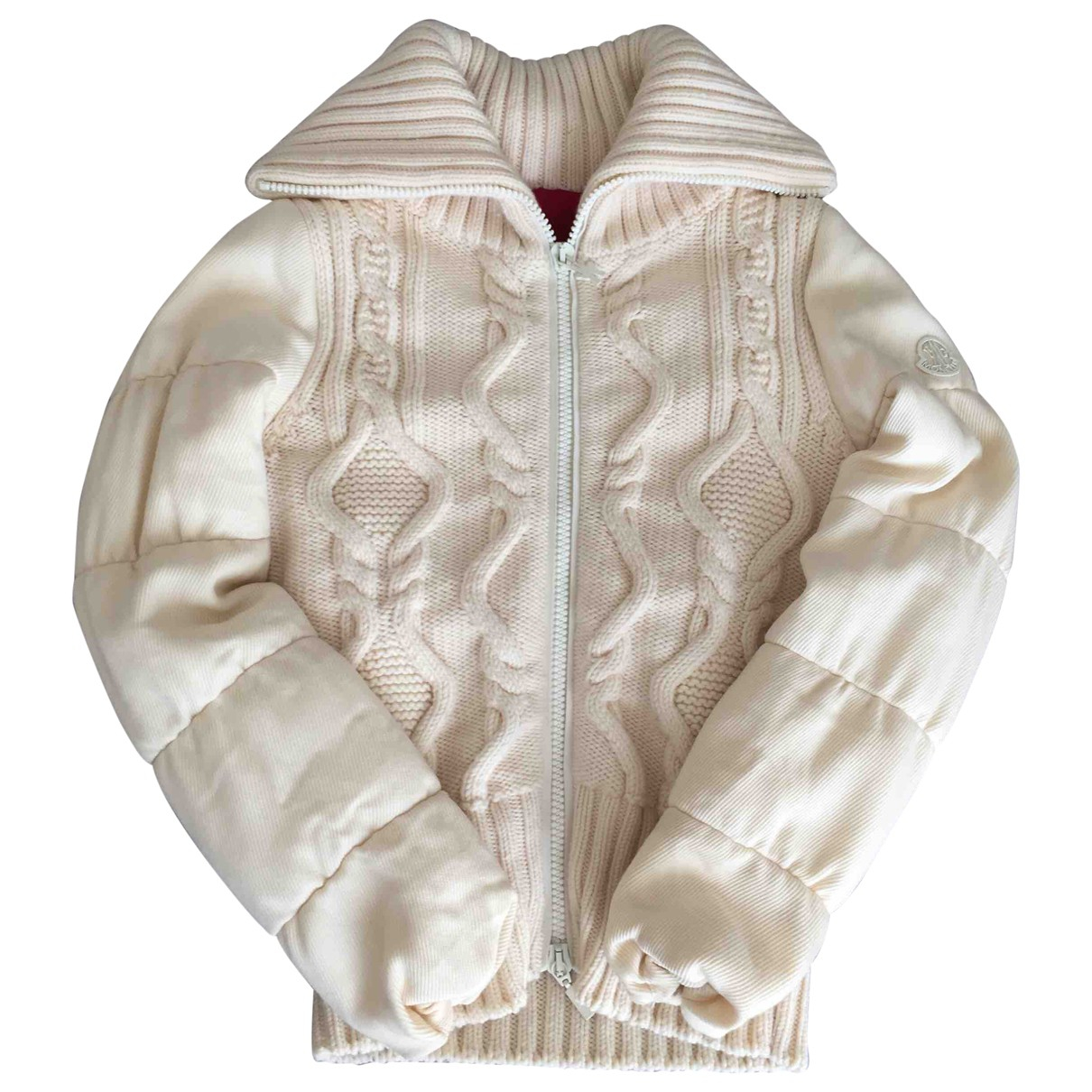 Moncler \N Ecru Wool Leather jacket for Women 2 0-5