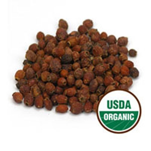 Organic Hawthorn Berries Whole 1 Lb by Starwest Botanicals