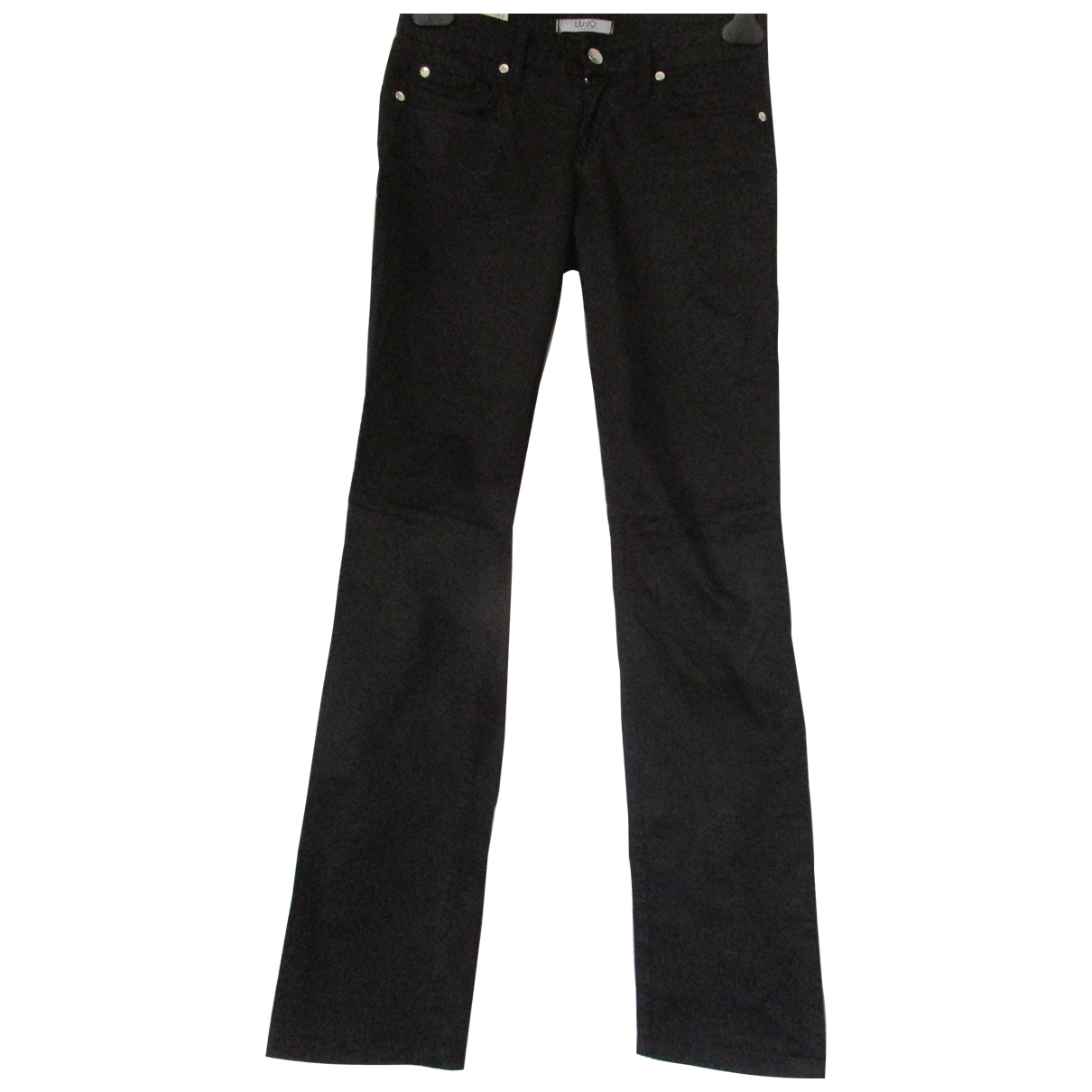 Liu.jo \N Black Cotton Trousers for Women 40 IT