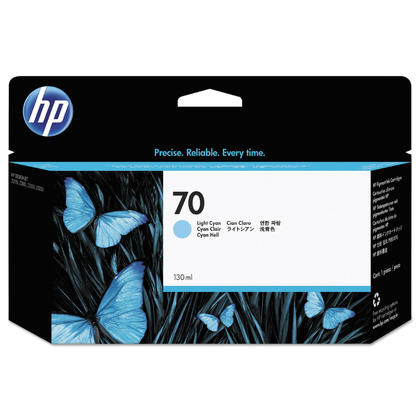 HP 70 C9390A Original Light Cyan Ink Cartridge