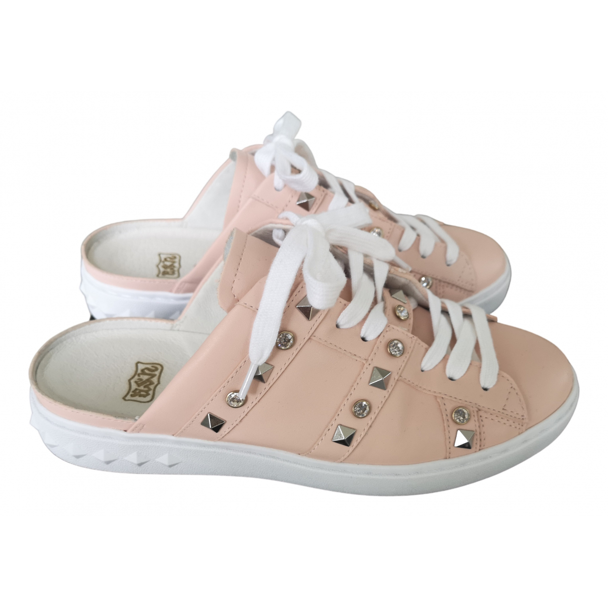 Ash \N Pink Leather Trainers for Women 38 EU