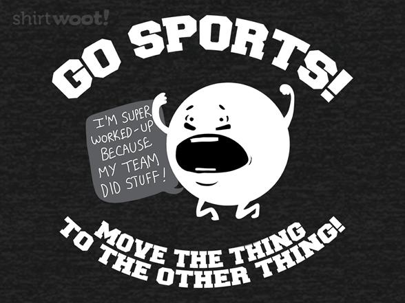 Go Sports! Dark Heather Remix T Shirt