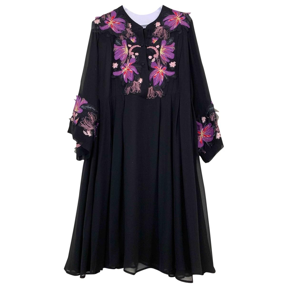Ermanno Scervino \N Black Silk dress for Women 42 IT