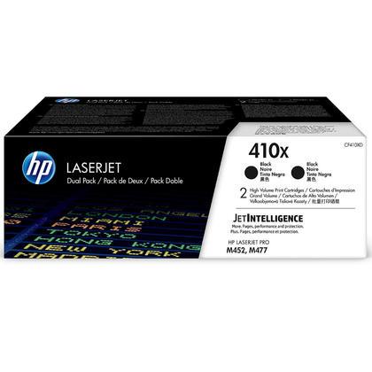 HP 410X CF410XD cartouche toner originale noire haute capacité, 2/paquet