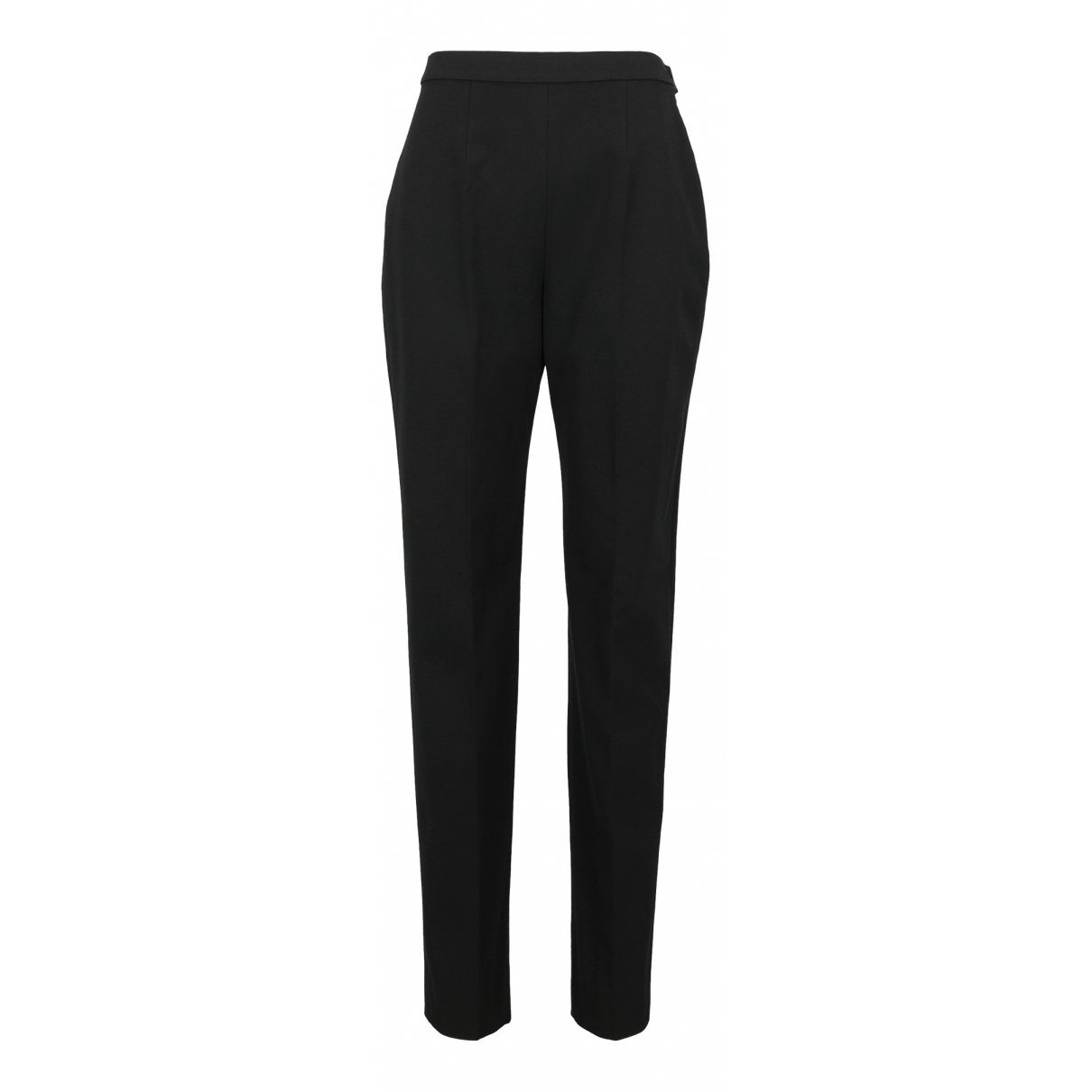 Max Mara \N Black Wool Trousers for Women 46 IT