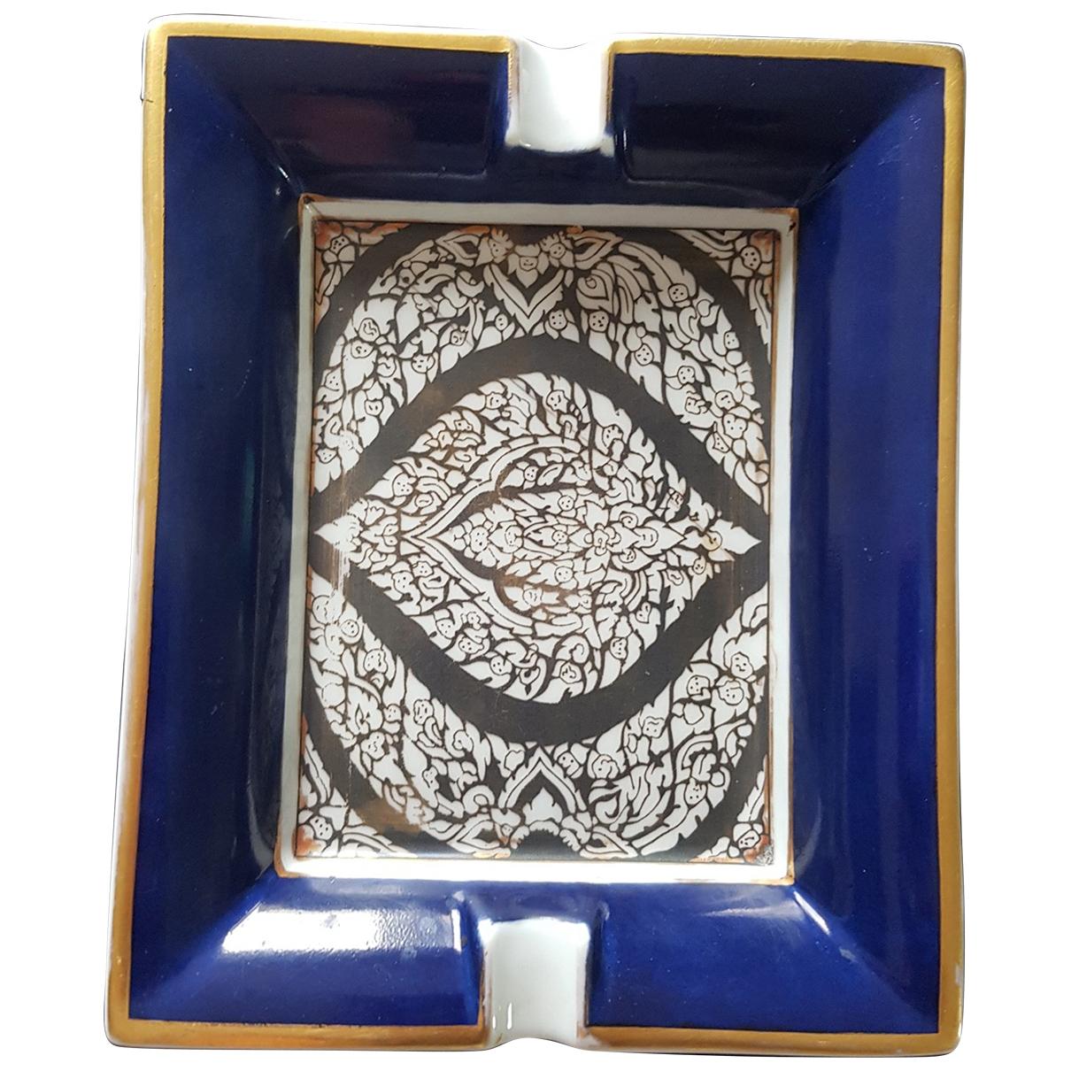 Herm??s \N Blue Porcelain Home decor for Life & Living \N