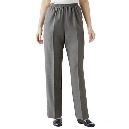 Alfred Dunner Pull-On Pants, 18 Petite , Gray