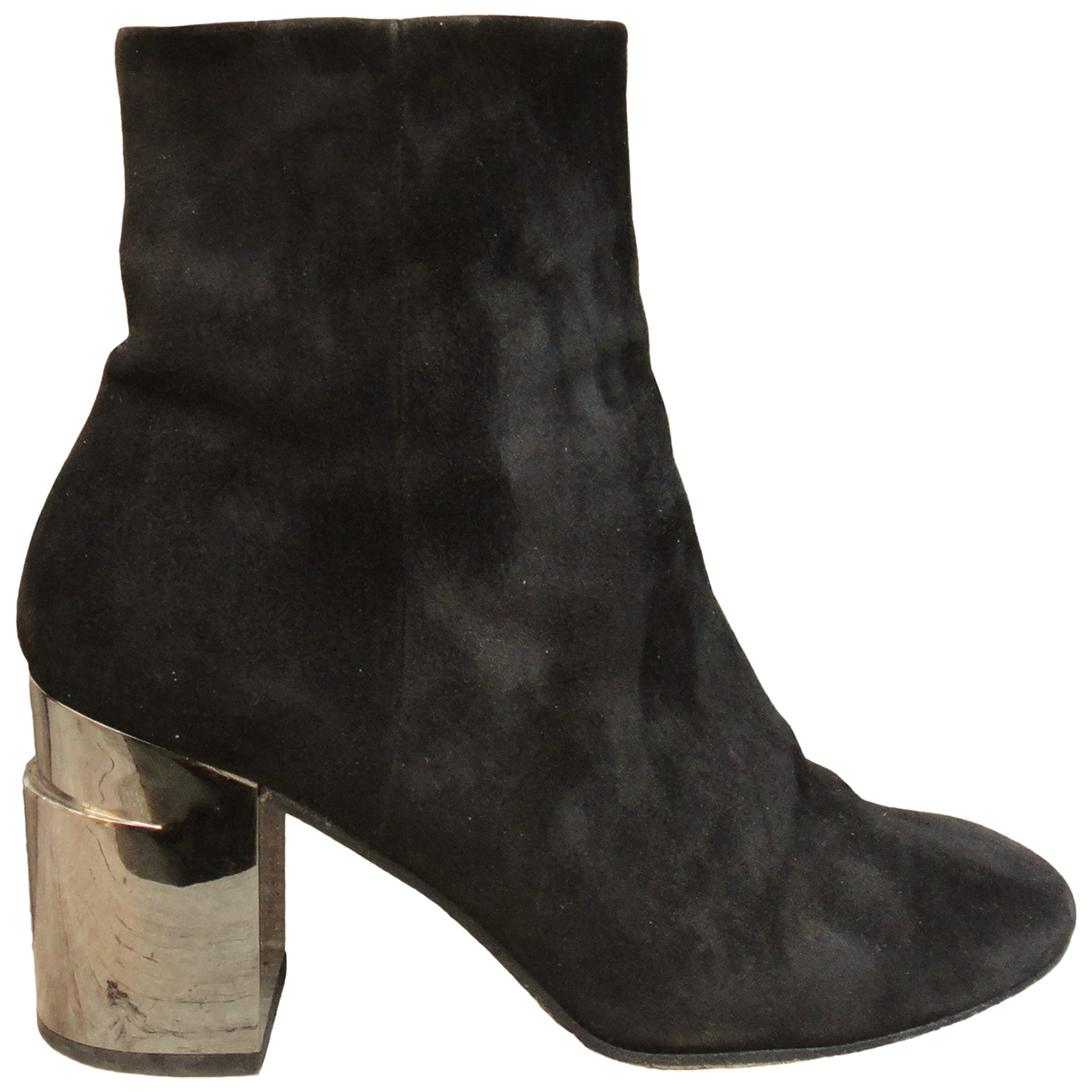 Robert Clergerie \N Black Suede Ankle boots for Women 40 EU