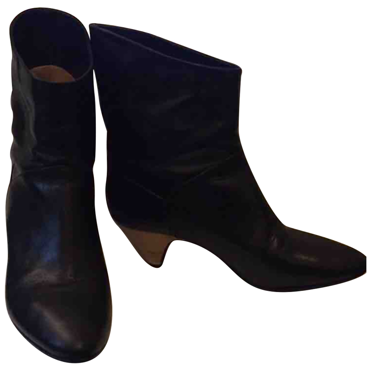 Lemaire \N Black Leather Ankle boots for Women 39 EU
