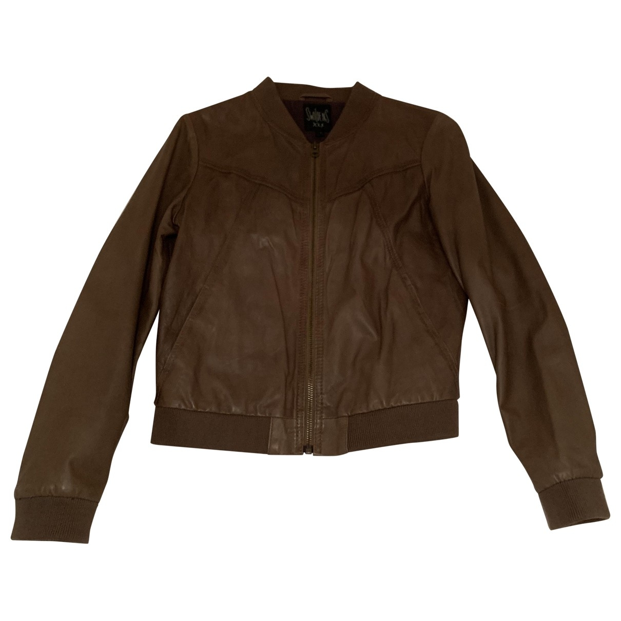 Swildens \N Beige Leather Leather jacket for Women 36 FR