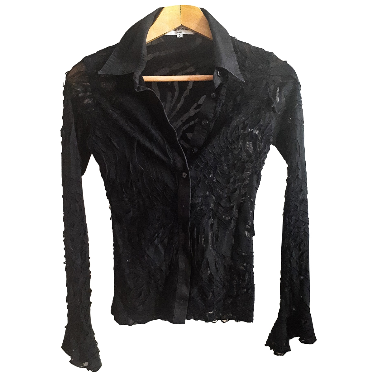 Anne Fontaine \N Black Lace  top for Women 34 FR