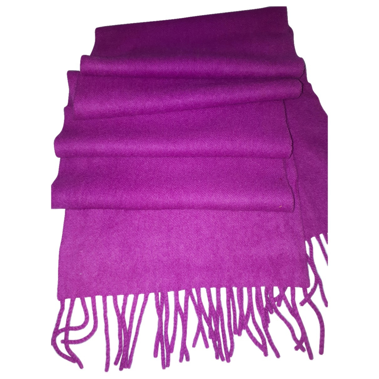 Non Signé / Unsigned \N Purple Cashmere scarf for Women \N