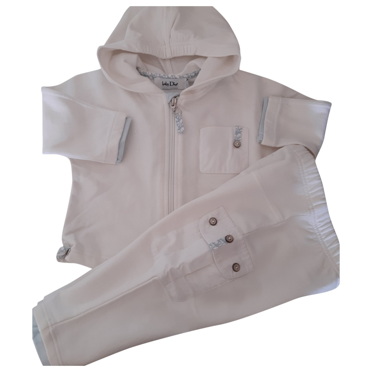 Baby Dior \N White Cotton Outfits for Kids 12 months - up to 74cm FR