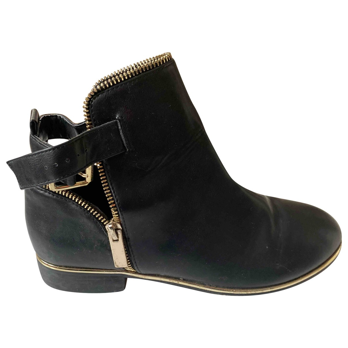 River Island \N Black Leather Ankle boots for Women 39 EU