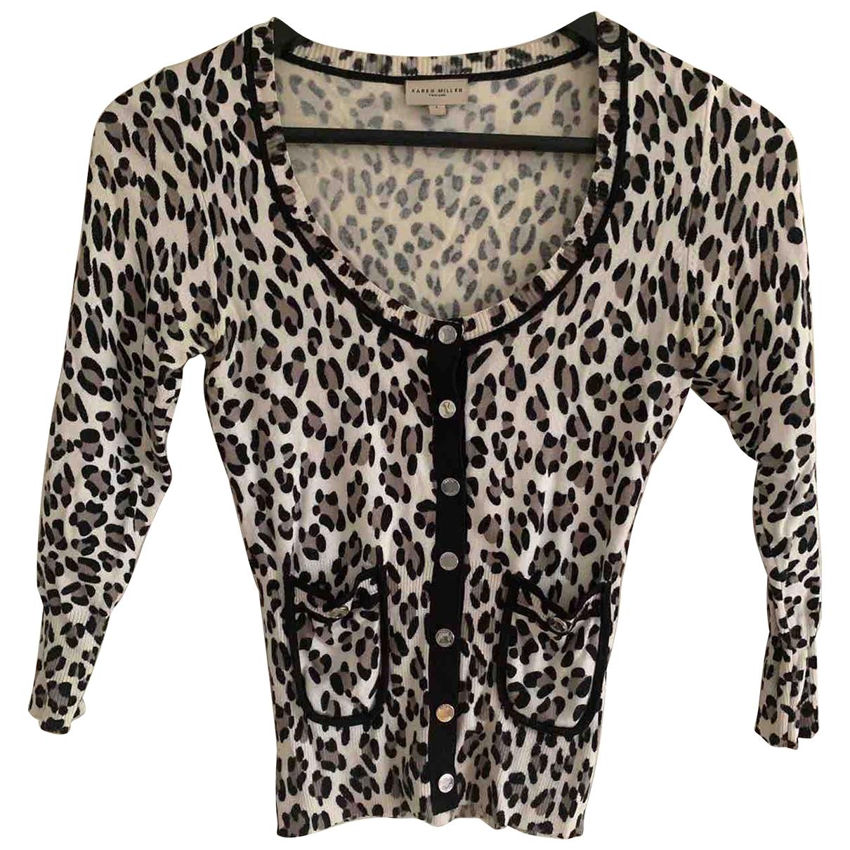 Karen Millen \N Beige Cotton Knitwear for Women 1 US