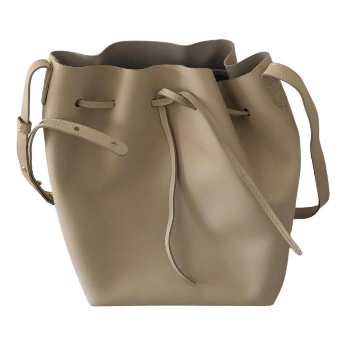 Mansur Gavriel Bucket Beige Leather handbag for Women \N