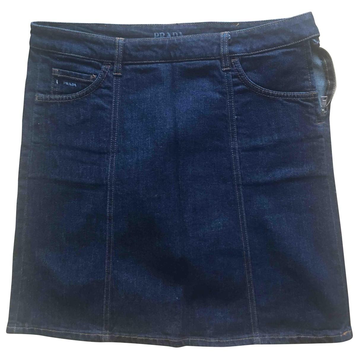 Prada \N Blue Denim - Jeans skirt for Women 42 IT