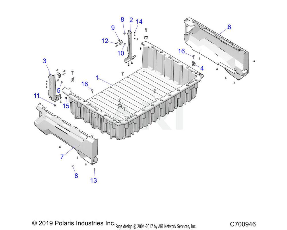 Polaris OEM 7520804 SCR-TXTH-M6X1.0X45 TAP ZPB