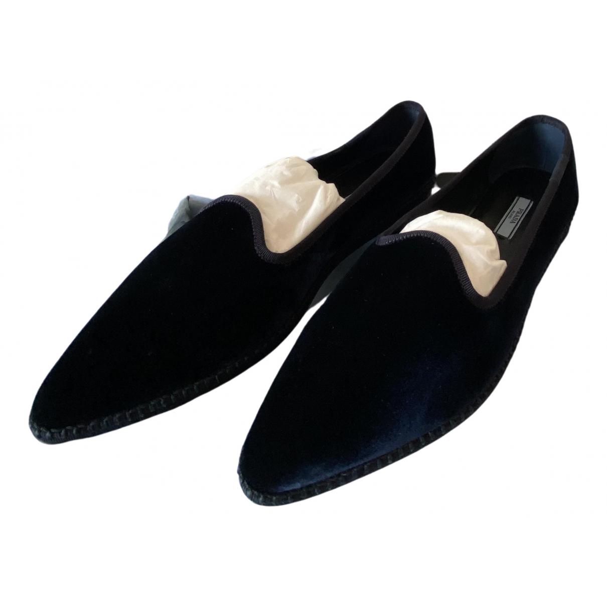 Prada \N Blue Velvet Ballet flats for Women 40.5 EU