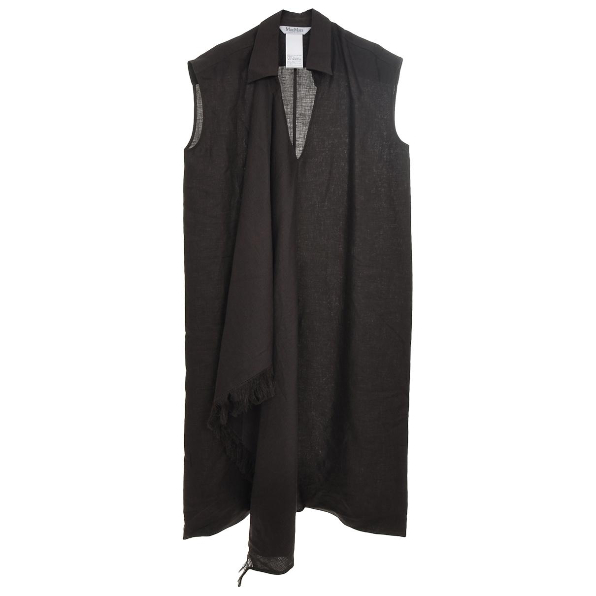 Max Mara \N Brown Linen dress for Women 40 IT