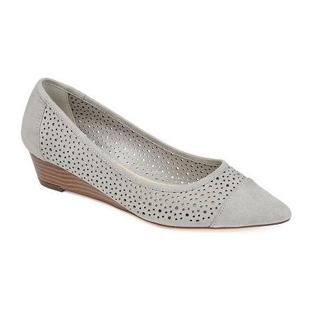 Journee Collection Womens Finnola Pointed Toe Slip-On Shoe, 10 Medium, Gray