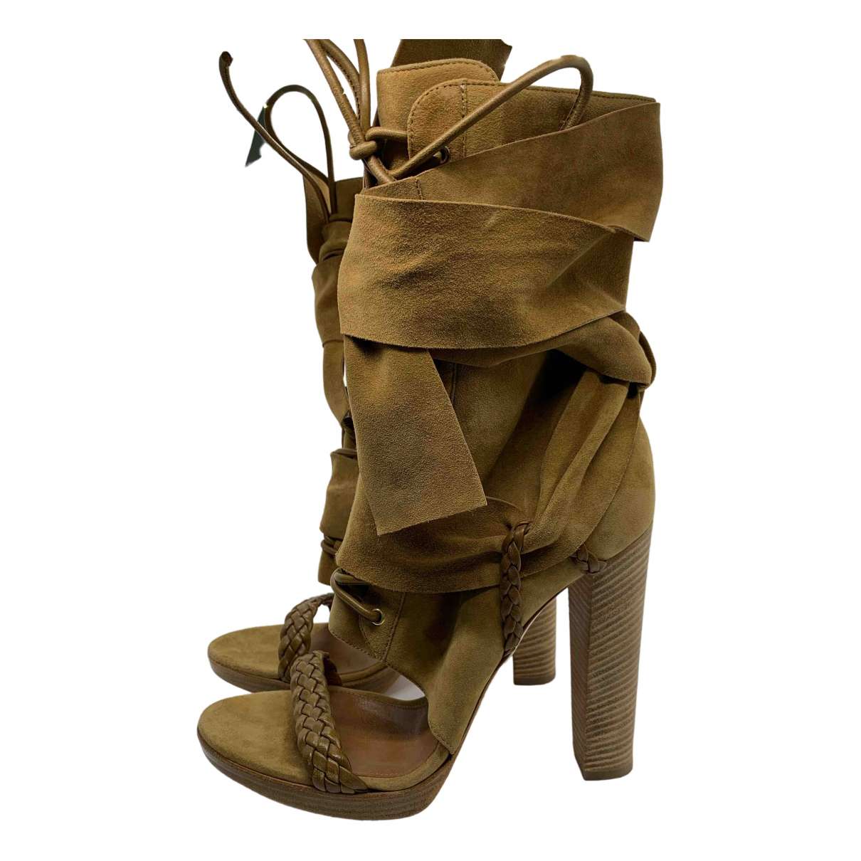 Gianvito Rossi \N Camel Suede Boots for Women 38.5 EU