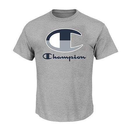 Champion-Big and Tall Mens Crew Neck Short Sleeve T-Shirt, 5x-large , Gray