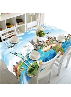 Amusing Places of Interest Pattern 3D Tablecloth