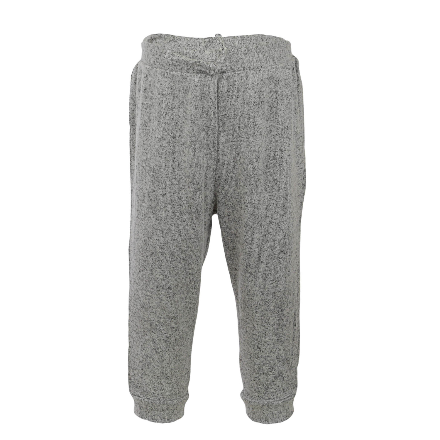 Janie And Jack Marled Jogger Pants - 0-3 Months - Heather Grey